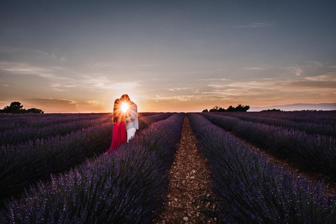 wedding photographer provence France lavander Valensole sunset-1