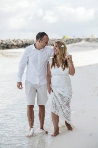 boda en las maldivas